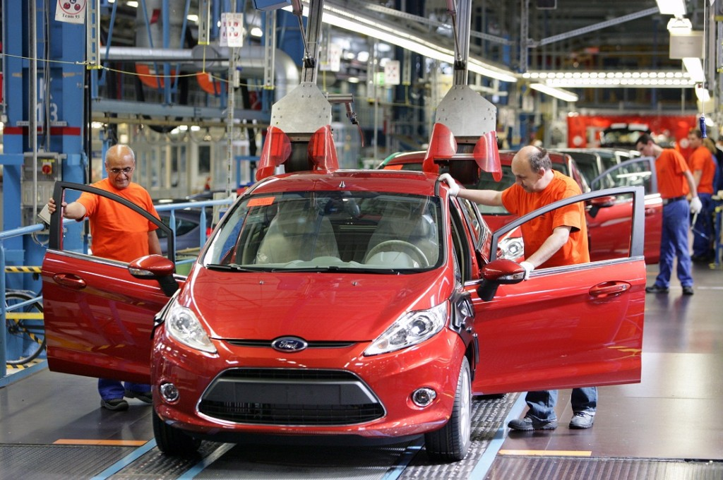 Production Of New Ford Fiesta in Ford Plant Cologne-Niehl